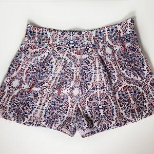 Rebecca Taylor Relaxed Paisley Print Silk Shorts